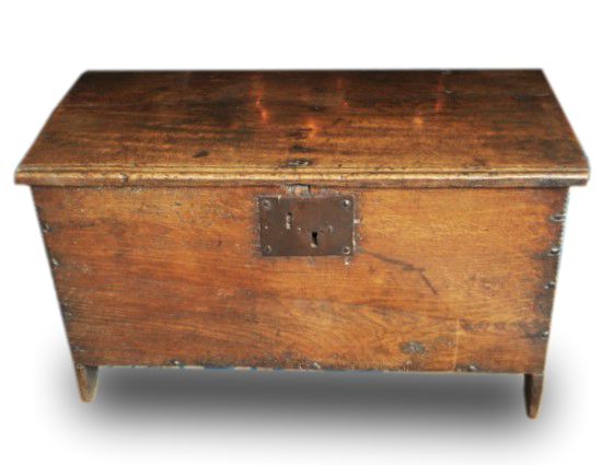A small Oak William III coffer