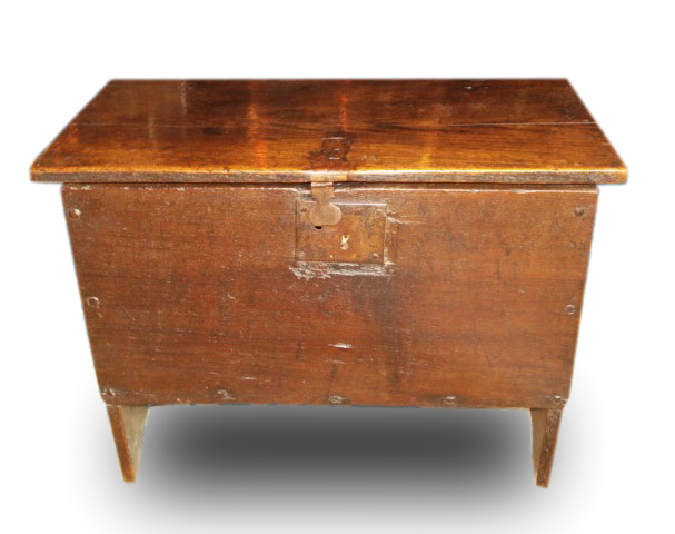 A very small Charles II Oak child's coffer