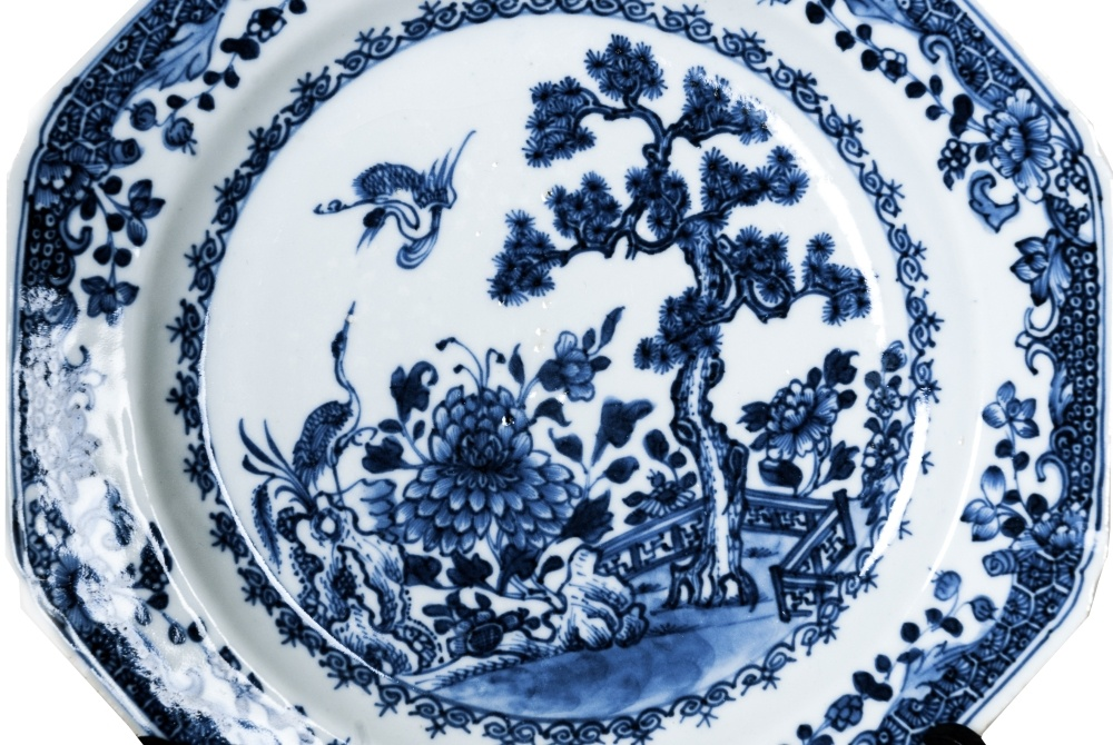 Nine matching late 18th C. Chinese plates