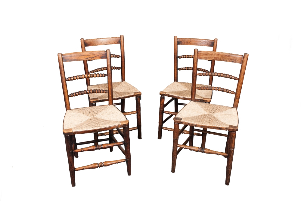 A matched set of three plus one Beckley chairs