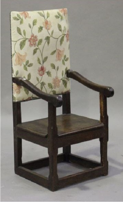 An 18th. Century side chair