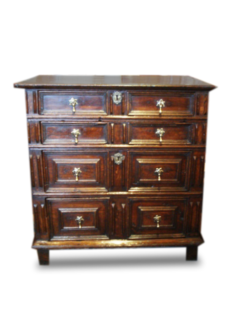 A Charles II Oak chest of drawers