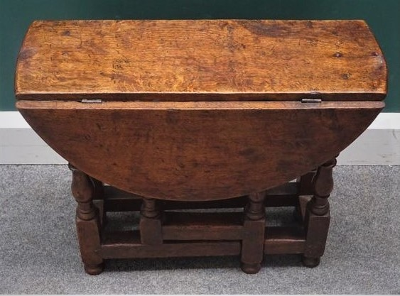 A small Oak 17th.Century style table