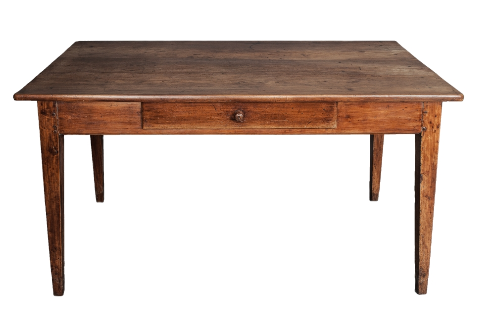 A 19th C. French Cherrywood farmhouse table