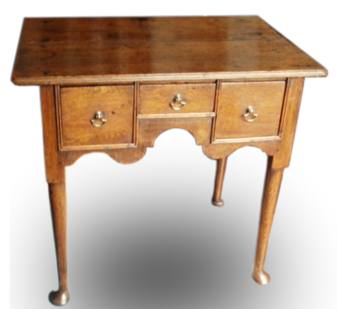 A small George II Oak lowboy