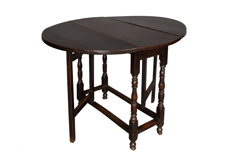 A small William and Mary Oak gateleg table