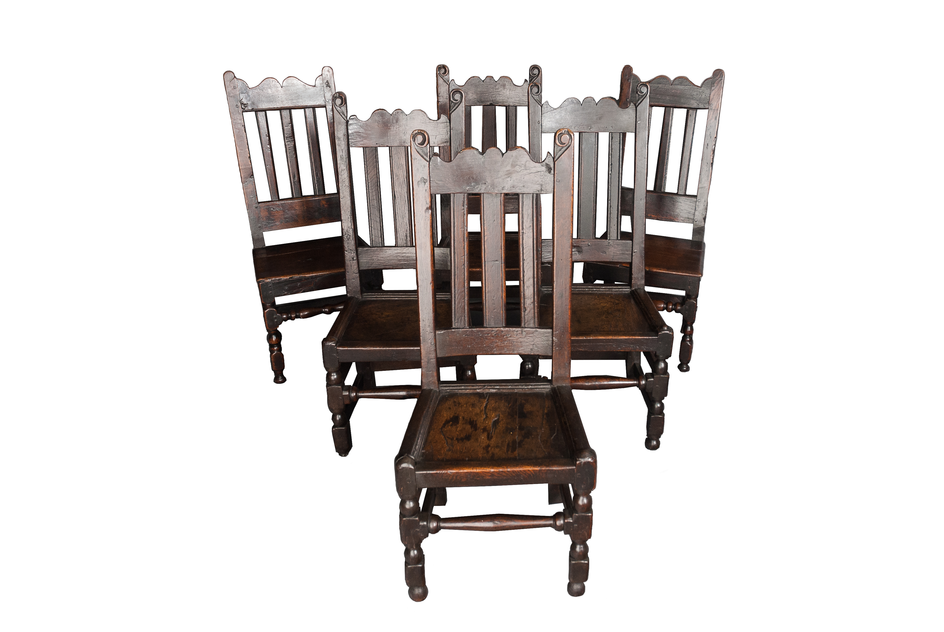A set of 17th. century Oak chairs