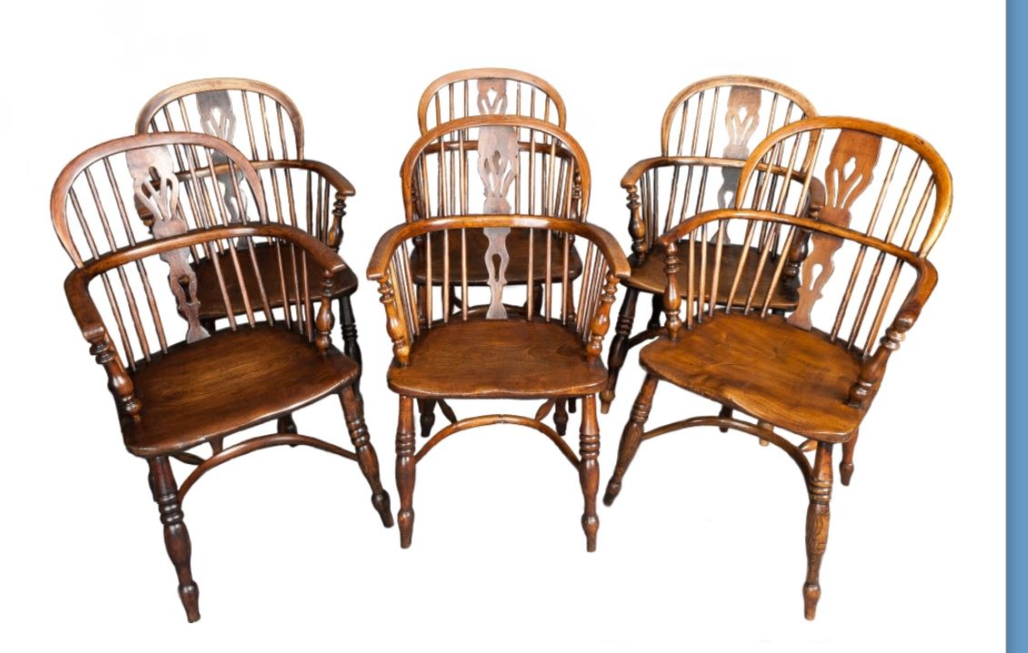 A good set of Elm and Ash Windsor chairs