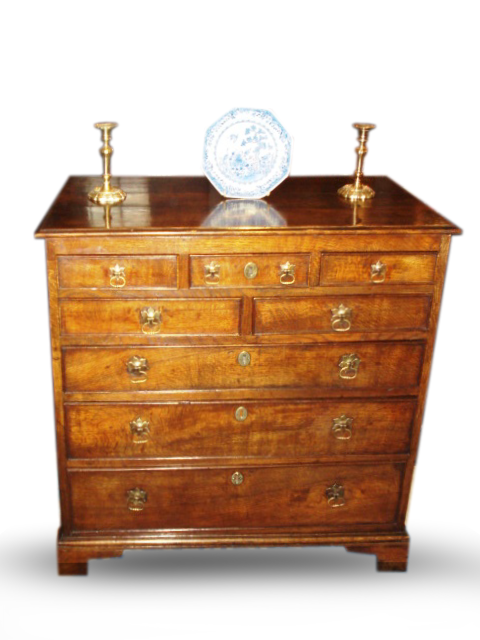 George III Oak chest of drawers