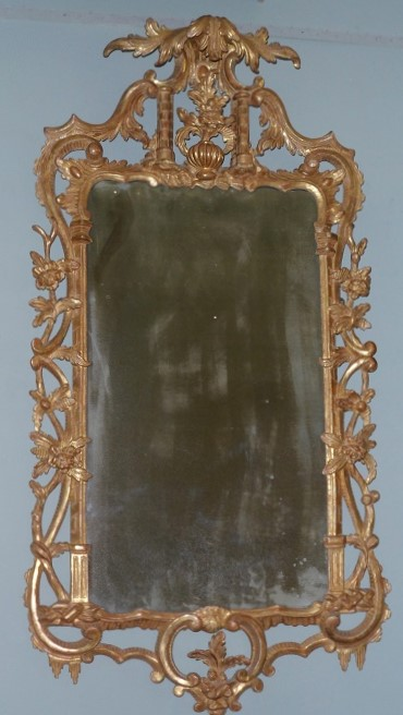 A George III  Rococco gilt mirror