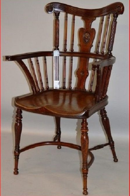 A Fine Mahogany Windsor Chair
