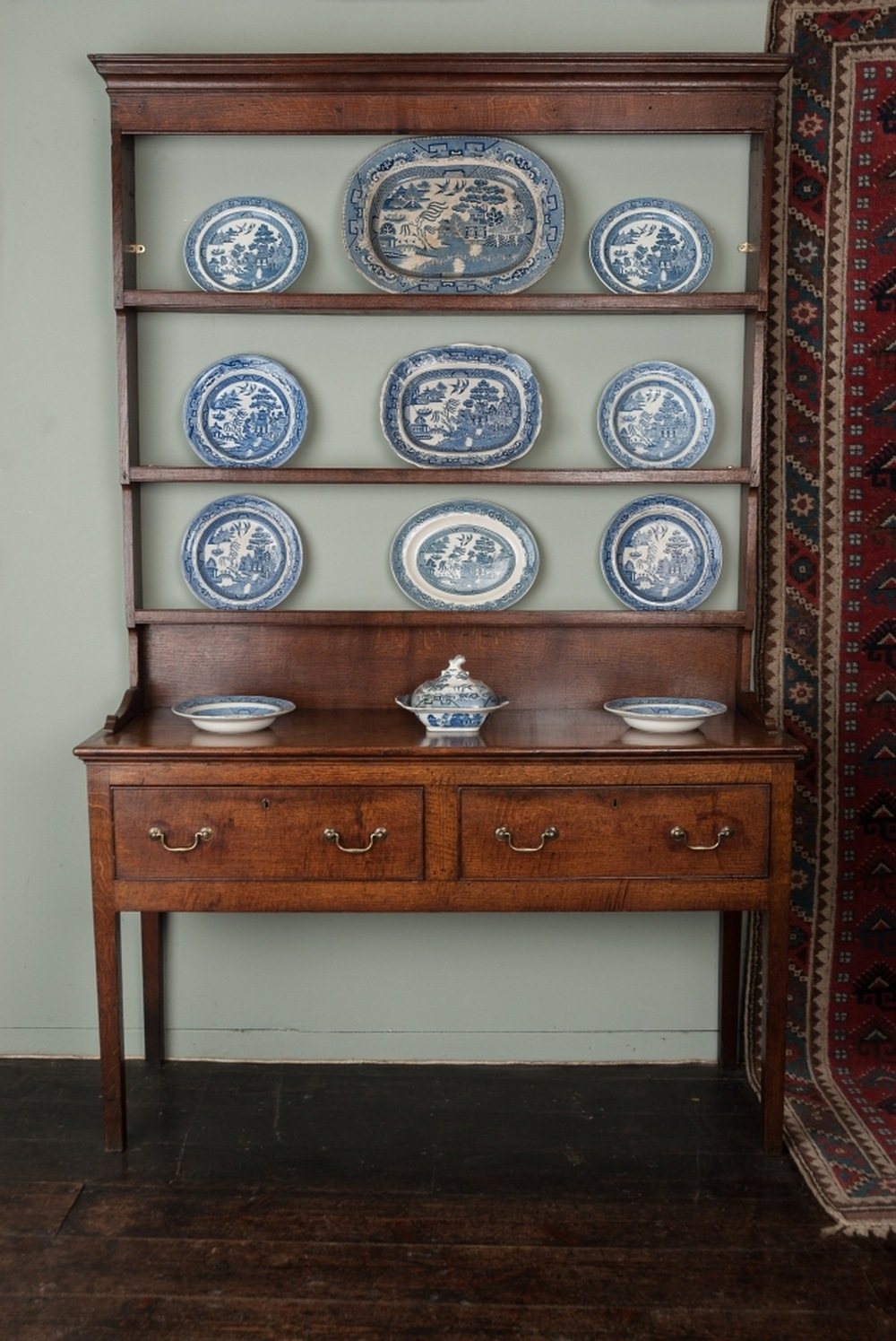 A small George III Oak dresser